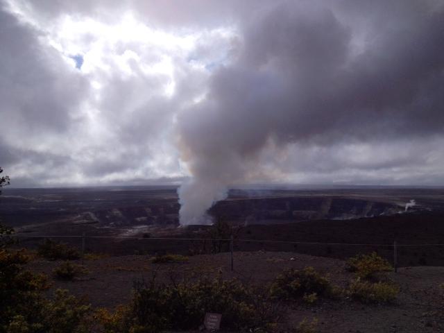 今日のハレマウマウ火口