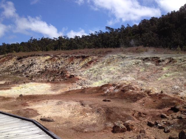 硫黄が見れる場所